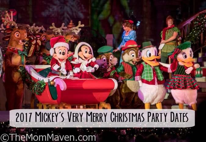 The 2017 dates for Mickey's Very Merry Christmas Party have been announced for Walt Disney World Magic Kingdom!