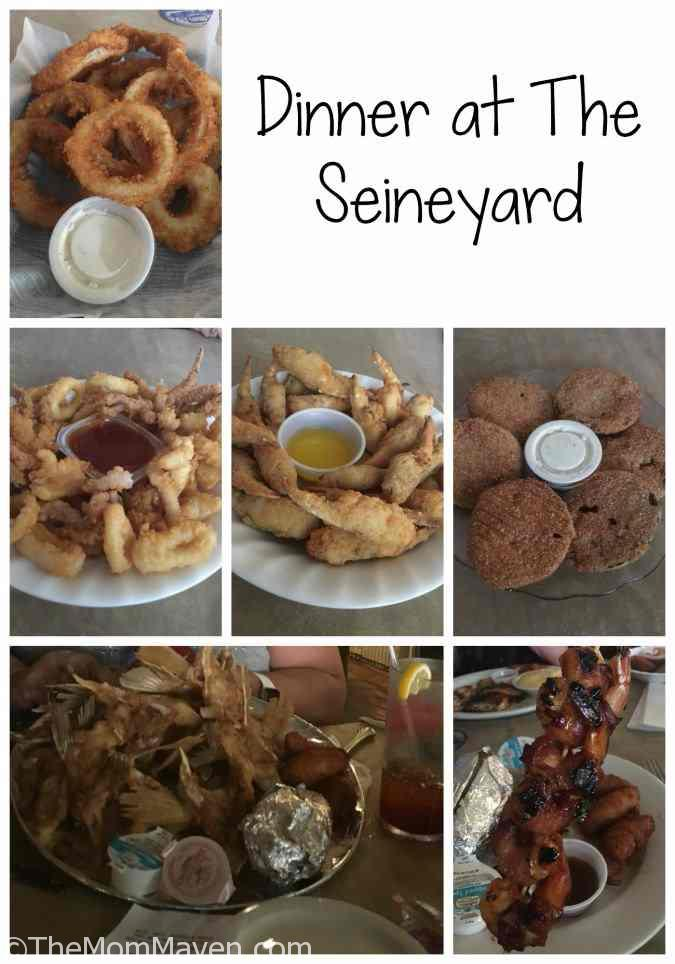 We enjoyed a seafood feast at The Seineyard in Wakulla County, Florida.