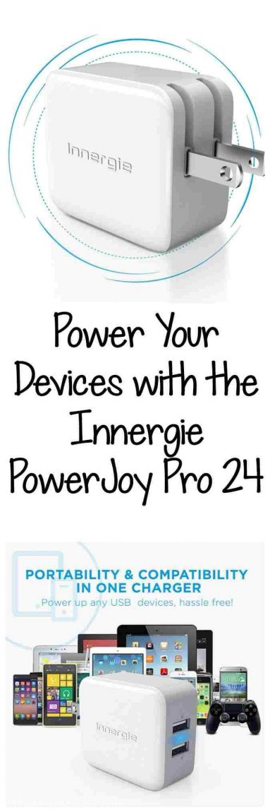 The Innergie PowerJoy Pro 24 is Always Ready to Hit The Road! This dual-port 2.4A USB wall charger handles any power supply between 100-240 AC.