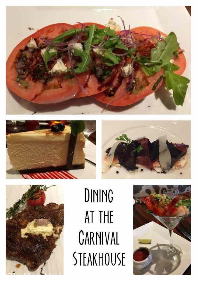 Dining in the Carnival Steakhouse while on a Carnival cruise is an enjoyable way to slow down and enjoy a delectable dinner.