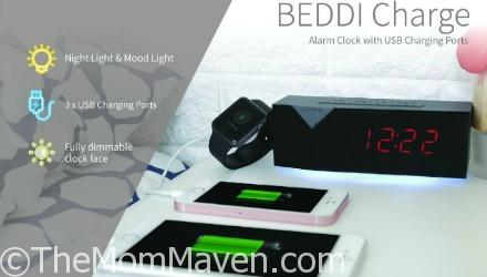 The Beddi Charge is a great gift for any gadget lover. This colorful alrarm clock and USB charger will help start your day off fully charged.