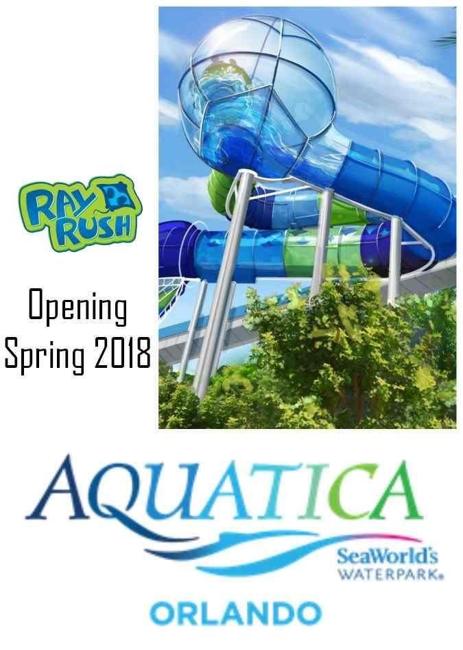 Ray Rush at Aquatica, SeaWorld's Water Park will open Spring 2018!