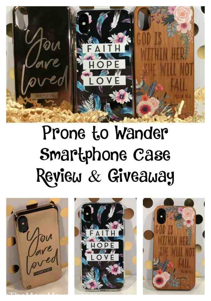 I recently received 3 new cases for my phone from Prone to Wander. These cases all have Christian sayings on them. Over the last week or so I've been trading off cases so I can try all of the new ones out, since they are so very different.