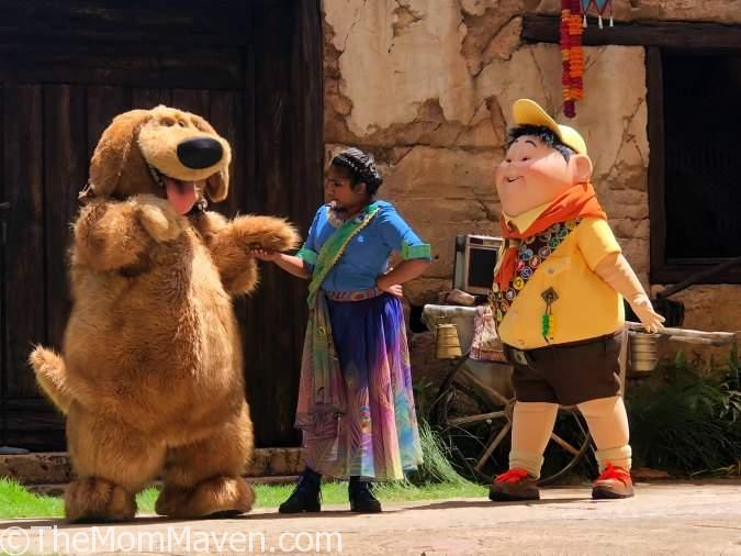 UP! A Great Bird Adventure at Disney's Animal Kingdom is hosted by Annika who is joined by bird handlers and of course, Russell and Dug from the movie UP!.