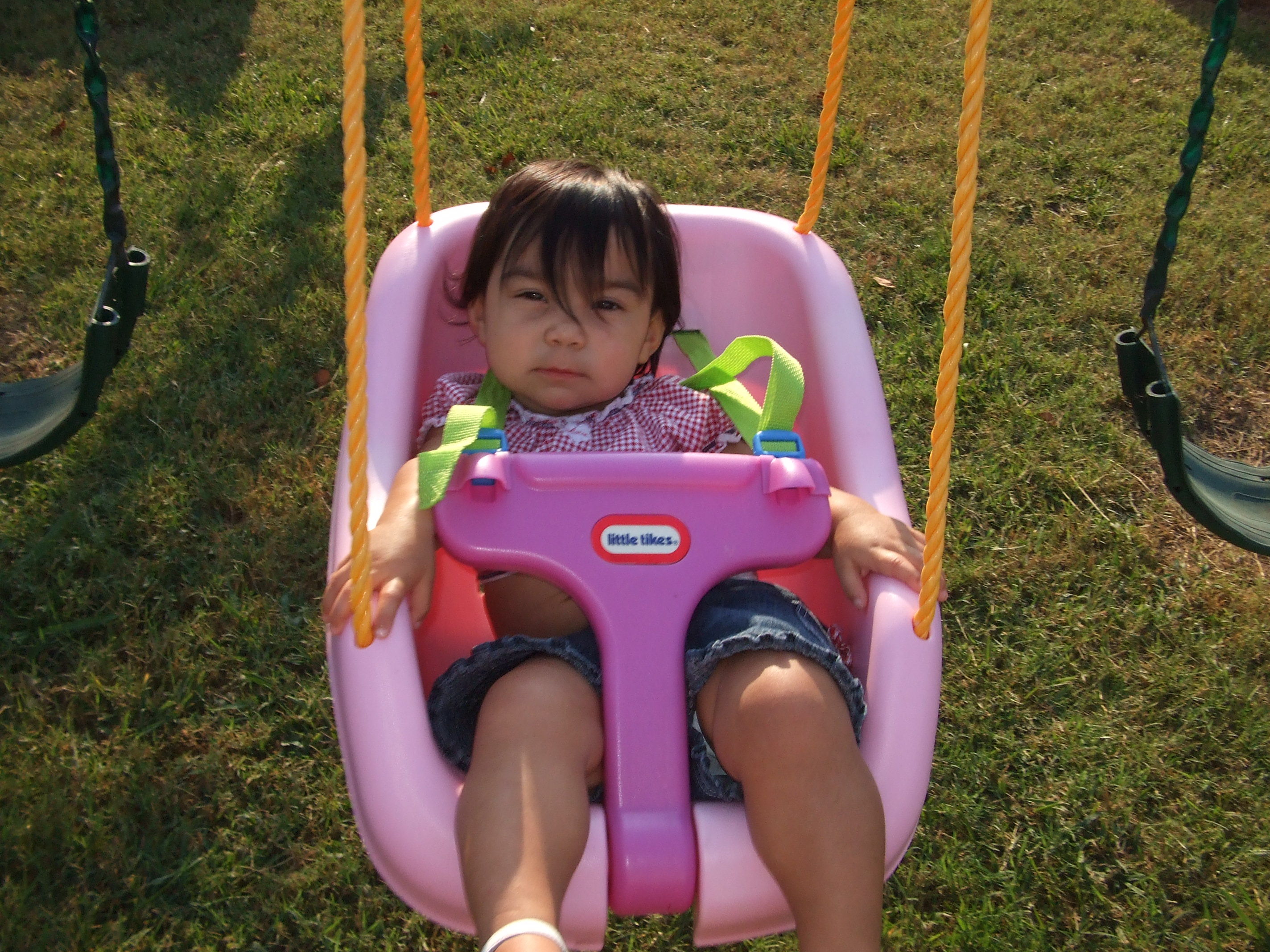 Swinging at Nannie's and Pa-Paw's House