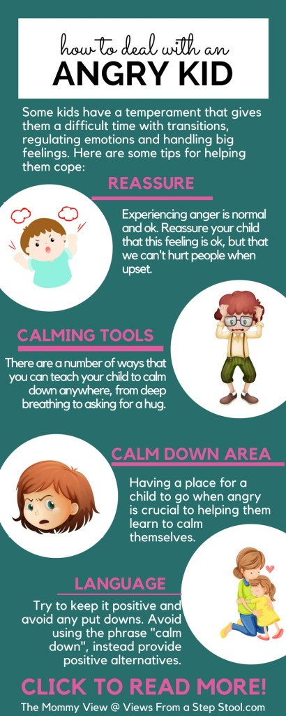Ways to deal with an angry kid through reassurance and calm down tools. A gently approach to helping the angry child.