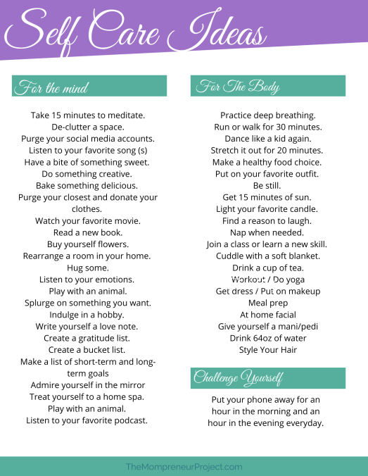 Self care ideas to maximize your self worth.