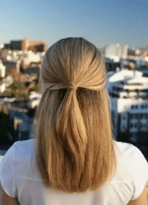 Half-tie: Quick Hairstyles For Busy Moms