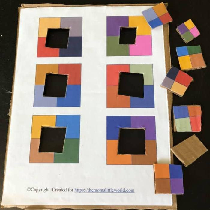 Color Matching Puzzle-Printable for Preschoolers