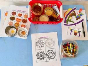 Montessori table setup for kids