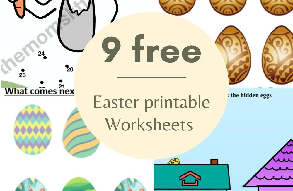 Easter Printable Worksheets for Preschoolers and toddlers