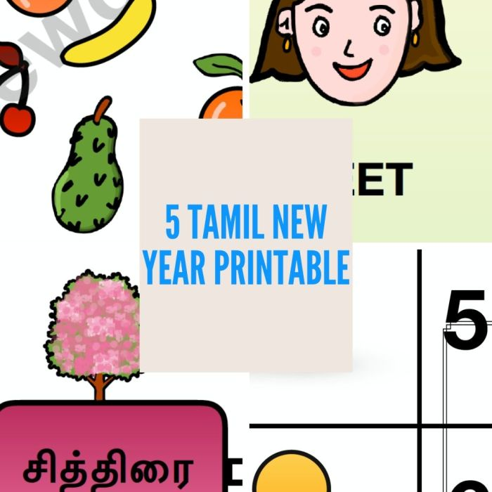 Tamil New year Printable worksheets