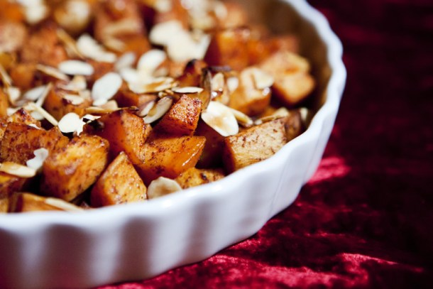 Roasted Sweet Potatoes with Agave Nectar
