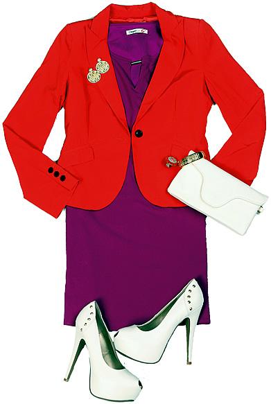 dress and blazer
