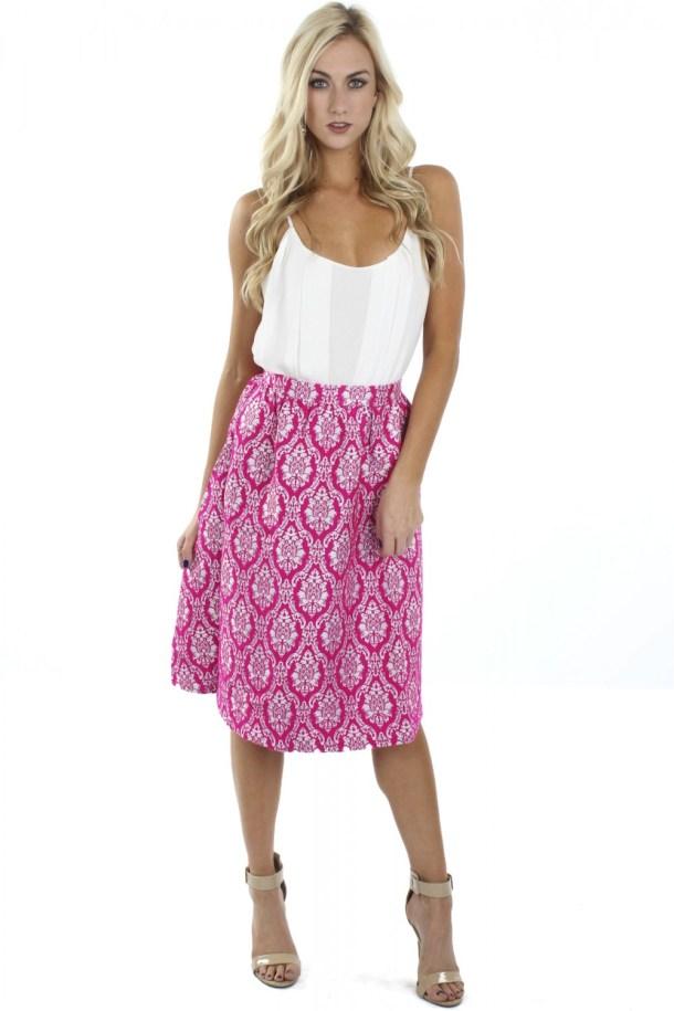"Midi Skirts - ""damask midi skirt"" ($38.99) - sophieandtrey.com"