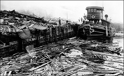 Aftermath of Black Tom Explosion