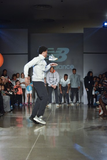 OMG! These sneakers are MAGIC!!! Dancers at the New Balance dance party featuring Waffle NYC (Photo by Eugene Gologursky/Getty Images for Petite Parade)
