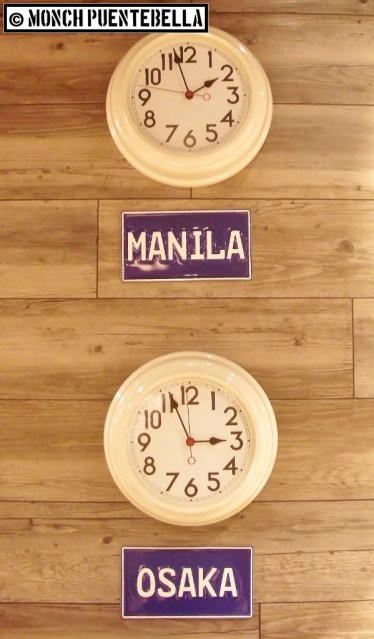They're an hour ahead of us. Dining here around 2:00 pm (Manila time) is perfect.