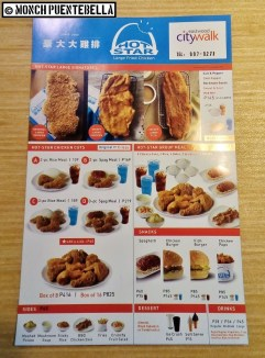 Got this flyer indicating their menu; do note that they usually remove or add some items without notice.