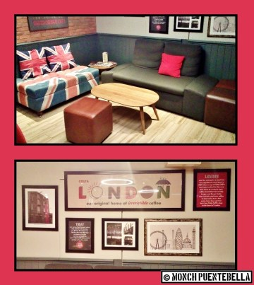 Here's a corner for more casual conversation, and some pictures of London for additional feels.