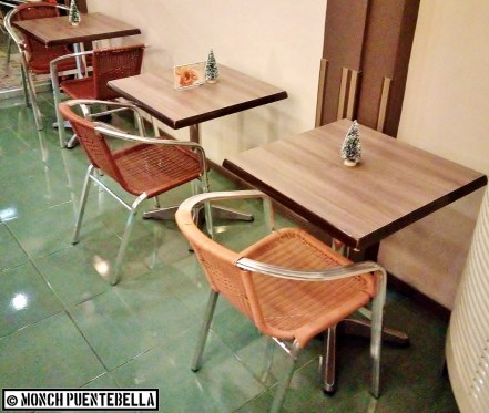 Chairs near the counter area.