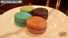 Clockwise from top: Matcha Macaron, Napoleon Tea and Caramel Macaron, Earl Grey Fortune and Chocolate Macaron, Vanilla Bourbon Tea and Kaya Macaron (all P55 each).