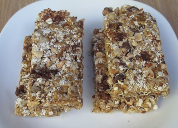 Chewy Crunchy Granola Bars on plate