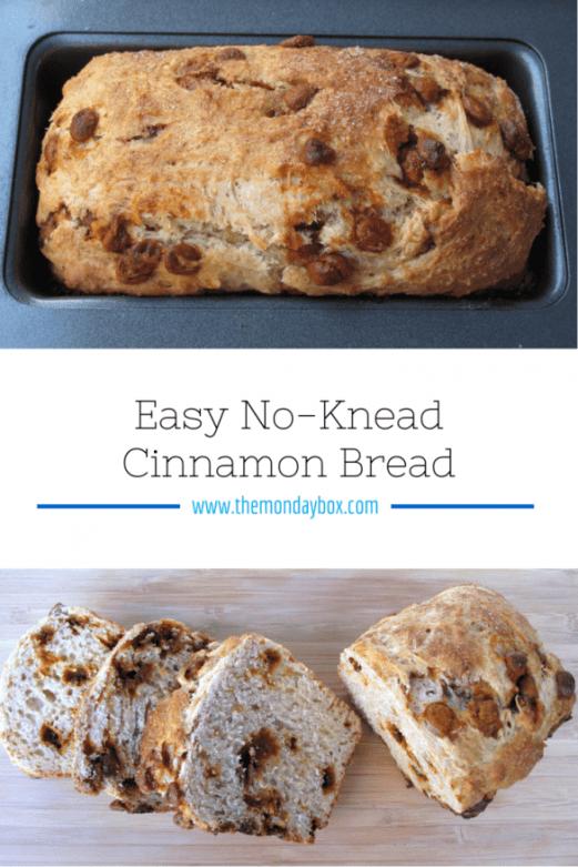 Easy No-Knead Cinnamon Bread