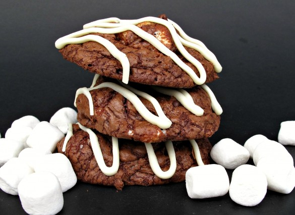 Barista Brownie Cookies- Addicting! Mocha cappuccino in chewy, chocolate, cookie form!    The Monday Box
