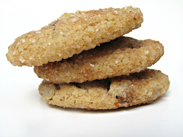 Three Cinnamon Dream Cookies in a stack