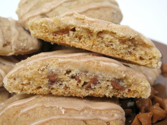 Cut Cinnamon Dream Cookie showing inside of cookie