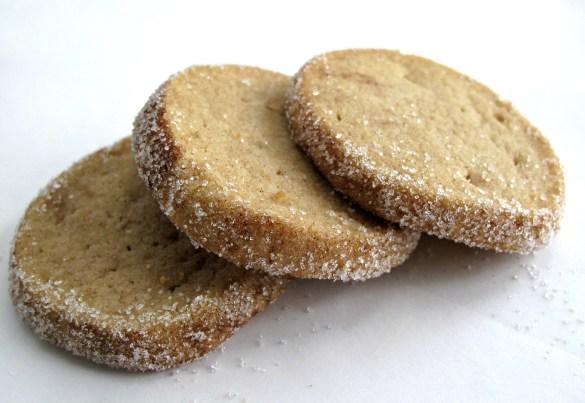 Three Cinnamon Brown Sugar Slice-and-Bake Shortbread Cookies