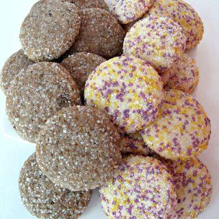 Mocha Sugar Cookies and Lavender Lemon Sugar Cookies