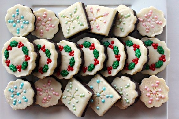 Snowflake and Christmas Wreath Fudge