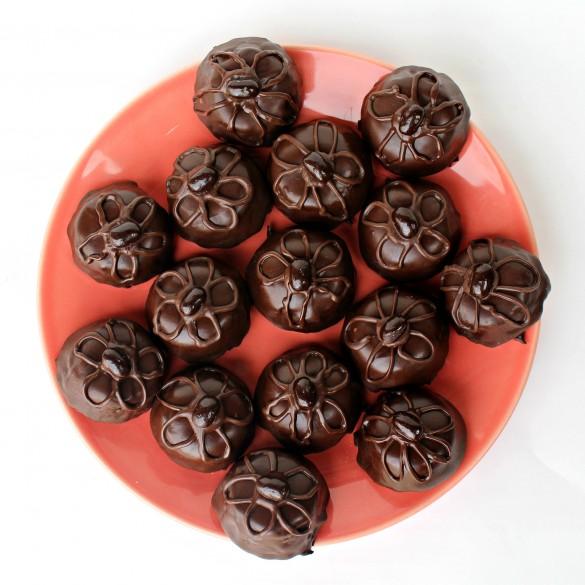 Flourless Mocha Brownie Bites