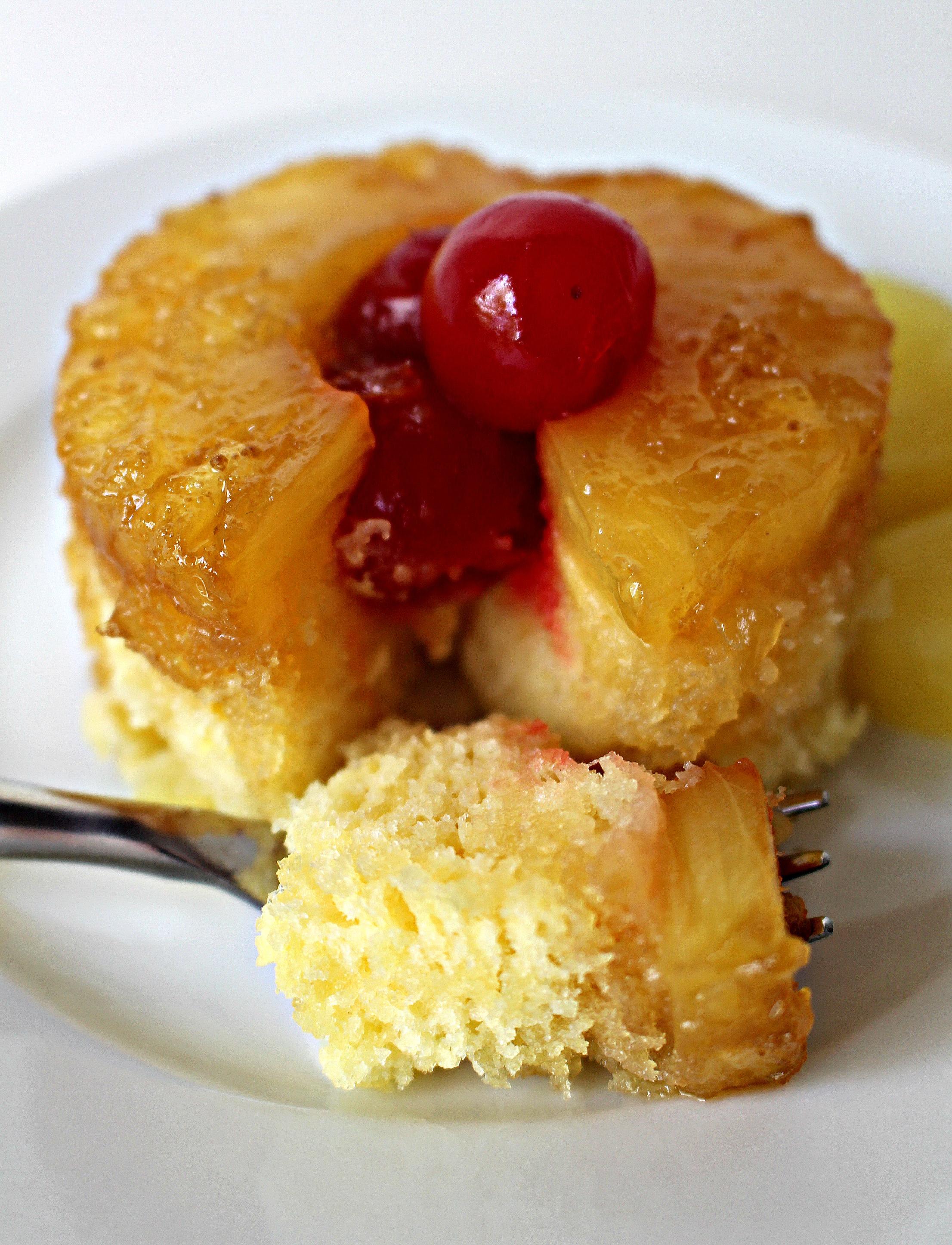 Individual Pineapple Upside Down Cake