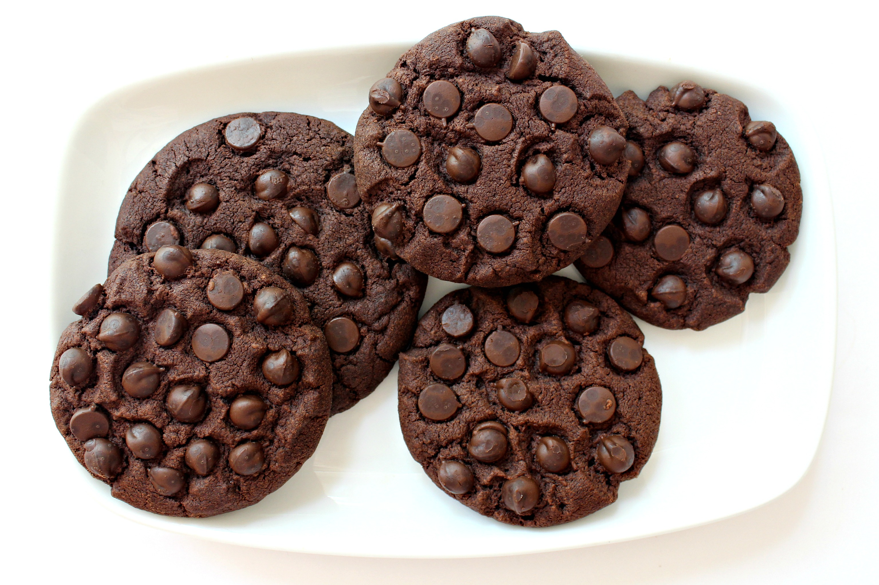 Chocolate Chocolate Chip Shortbread Cookies