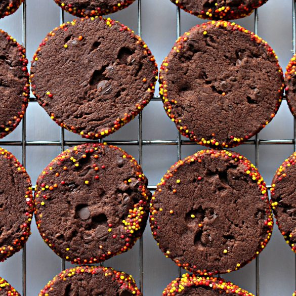 Spiced Chocolate Shortbread Cookies