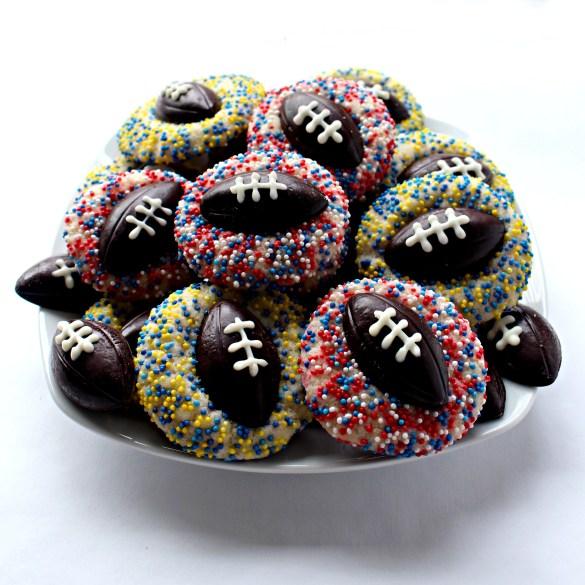 Plate full of Shortbread Thumbprint Cookies