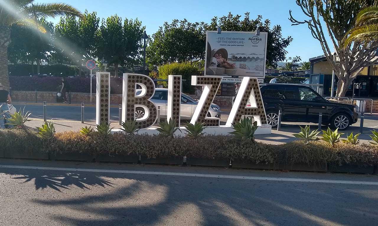 Ibiza Airport Sign