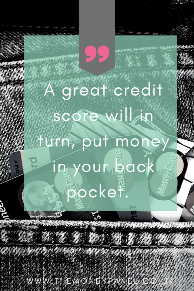 pin with credit cards in denim jeans pocket 'a great credit score will in turn, put money into your back pocket'