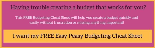Budgeting cheat sheet