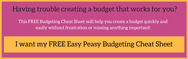 Budgeting cheat sheet