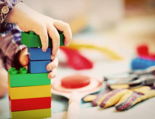Nursery child building blocks