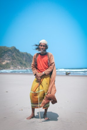 """What do you want to do in life?"" ""I just want to walk"". (Pantai Parangtritis, Java)"