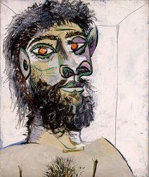 Pablo Picasso (1881-1973), Head of a Bearded Man, 1938 (?), oil on canvas. Musée national Picasso-Paris, gift in lieu Pablo Picasso, 1979. © Estate of Picasso / SODRAC (2018). Photo © RMN-Grand Palais (Musée national Picasso-Paris) / Jean-Gilles Berizzi