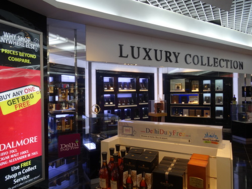 delhi airport luxury spirits