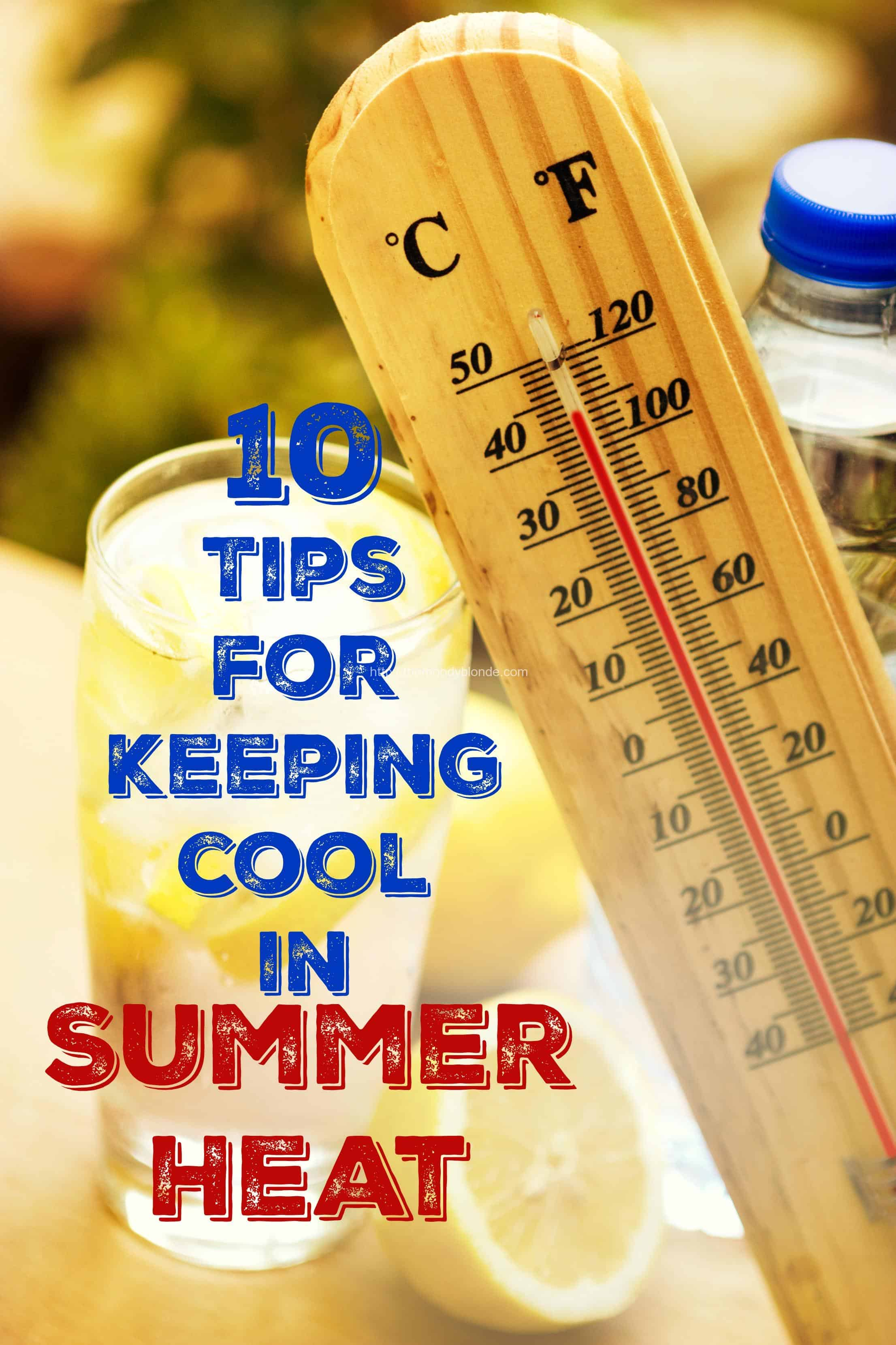 keeping cool in summer heat