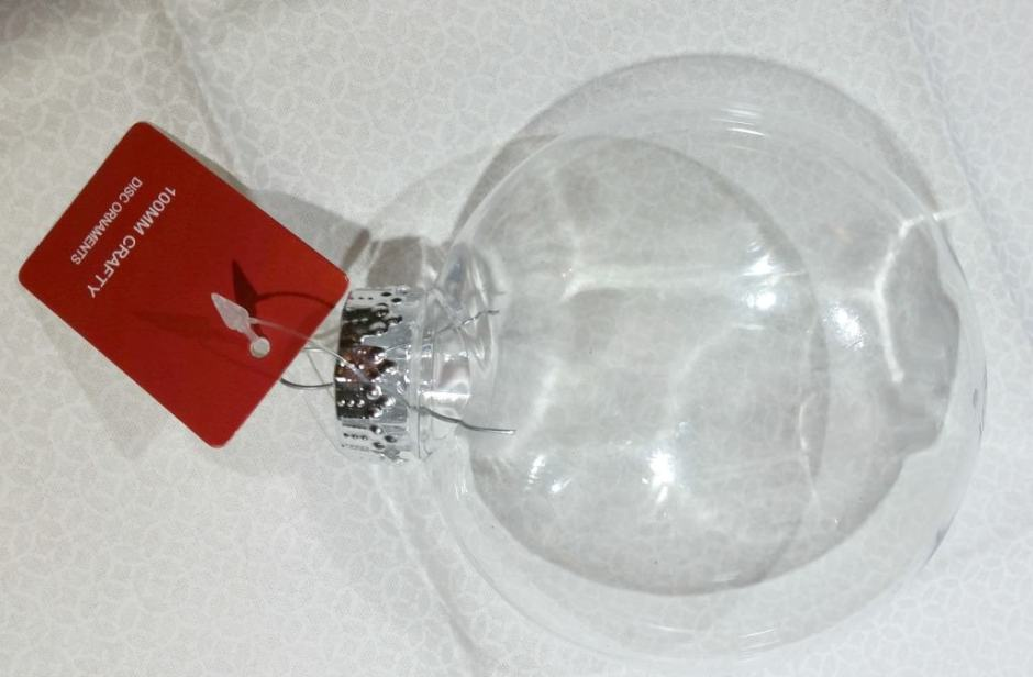 keepsake thumbprint Christmas bulb ornament