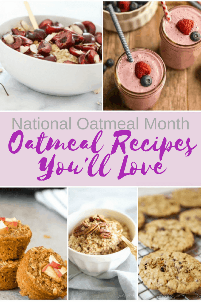 national oatmeal month, delicious oatmeal recipe, oatmeal bake, oatmeal bite, oatmeal cookie, oatmeal smoothie, oatmeal bowl